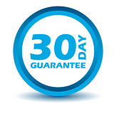 Blue guarantee icon