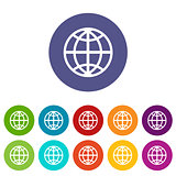 World flat icon