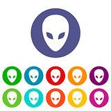 Aliens flat icon
