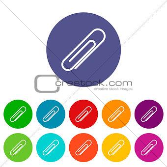 Clip flat icon