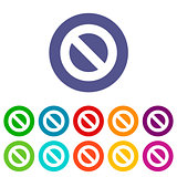 Ban flat icon