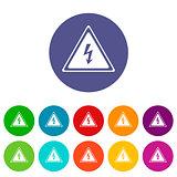 Voltage flat icon