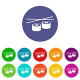 Sushi flat icon