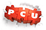 PCU - Text on Red Puzzles.