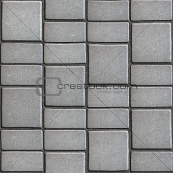 Gray Paving Slabs that Mimic Natural Stone.