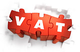 VAT - White Word on Red Puzzles.