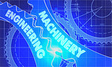 machinery engineering on Blueprint of Cogs.
