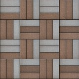 Gray and Brown Rectangles Randomly Laid Weave.