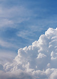 White clouds closeup in blue sky