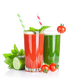 Fresh vegetable smoothie. Tomato and cucumber