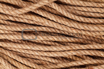 Old marine rope texture