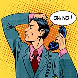 depressed man talking phone communication