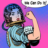 woman astronaut we can do it the power of protest
