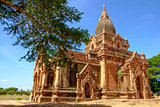 Beautiful view of old ancient temple in old Bagan, Myanmar