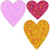 Set grunge hearts