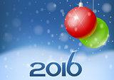 Vector New Year card 2016
