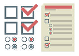 Vector simple design elements for To Do list
