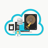 web cloud storage database online file sharing data center