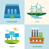 set of renewable energy