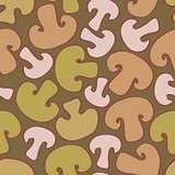 seamless background with sliced mushrooms