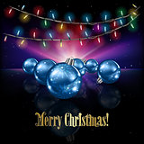 Abstract celebration background with Christmas decorations and s