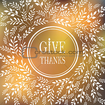 Card for Thanksgiving Day