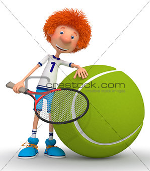 Boy tennis player
