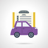 Automobile document flat vector icon