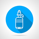 Line water bottle round vector icon