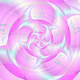 Spiral Pincers in Pink and Blue