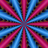 16 Segments in Pink and Blue