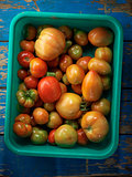 Red organic tomatoes
