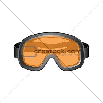 Ski sport goggles in dark design