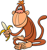 monkey with banana cartoon