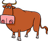 bull farm animal cartoon