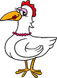 hen bird farm animal cartoon