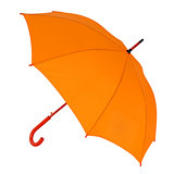 orange umbrella on a white background
