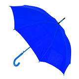 dark blue umbrella on a white background