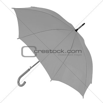 gray umbrella on a white background