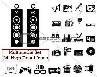 24 Multimedia Icons