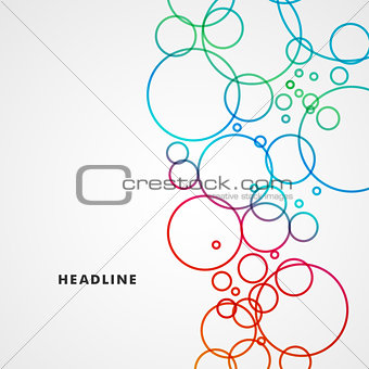 Beautiful colored circles on a light background