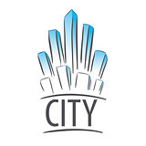 vector logo city in the form of crystals