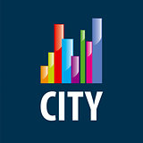 vector logo city in the form of diagram