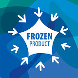 vector logo for frozen foods in the form of stars and snowflakes