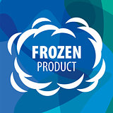 vector logo for frozen products in the form of a cloud