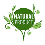 vector logo for organic products in the form of plants
