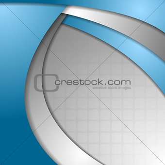 Abstract blue grey wavy corporate background