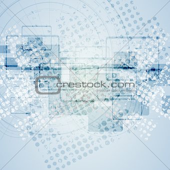 Abstract blue grunge tech background
