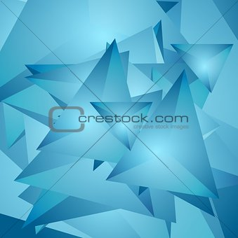 Abstract tech polygonal background