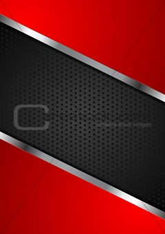 Bright perforated background with metallic design